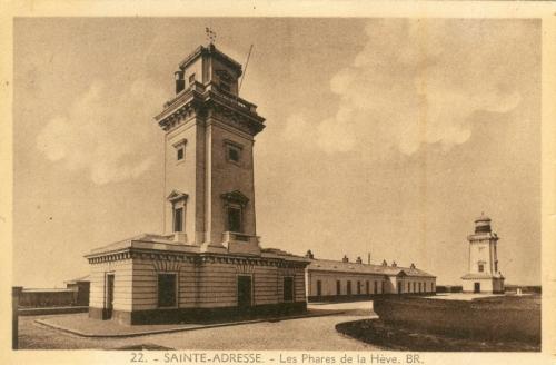 cap de la hève - les deux phares en 1900.jpg